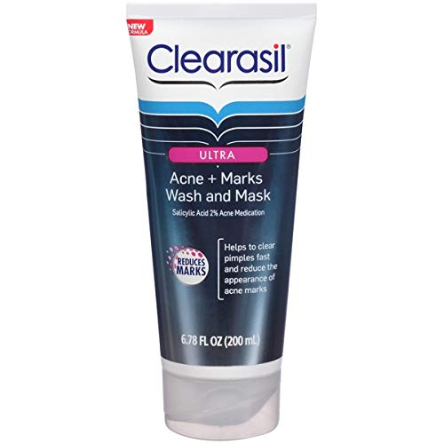 Clearasil Ultra Acne Plus Marks Wash and Mask for Unisex, 6.78 Ounce U-BB-2297