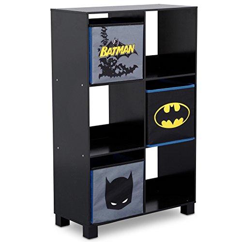Delta Children 6 Cubby Deluxe Storage Unit, DC Comics Batman ()