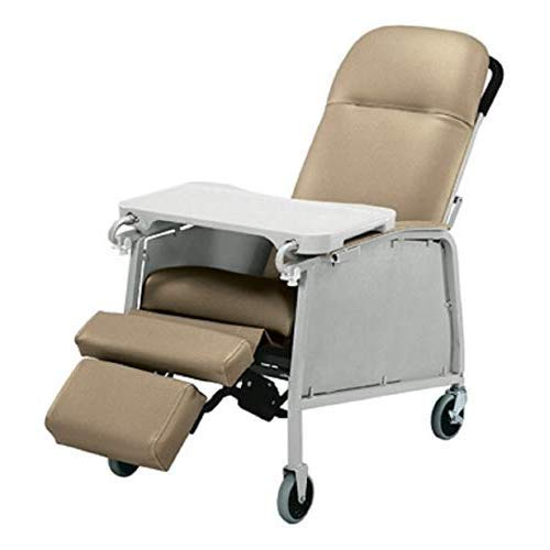 Lumex Three-Position Clinical Care Recliner, Warm Taupe, 574G409