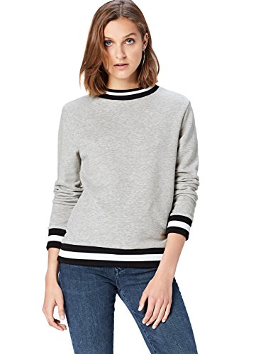 Bordures Rayées Sweat Gris Femme shirt Find OPTkZwXui