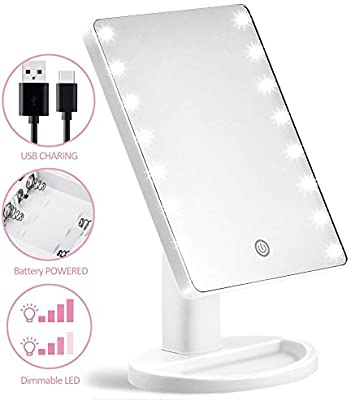 Costumes & Accessories Novelty & Special Use Led Touch Screen Rotatable Bluetooth Operated Makeup Mirror 10x Magnifying Usb 2 Led Bars Music Cosmetic Table Desktop Mirror