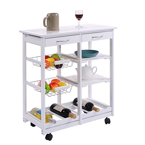 Giantex Rolling Kitchen Trolley Portable