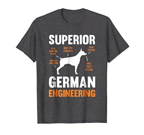 Mens Superior German Engineering   Doberman Pinscher T-Shirt 3XL Dark Heather