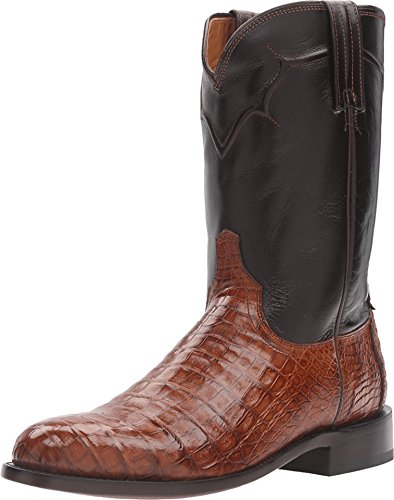 Lucchese Men's Dustin Belly Caiman Roper Boot Round Toe S...