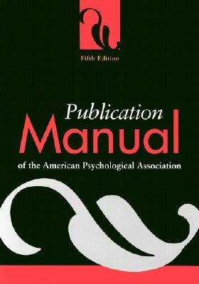 Buy now Publication Manual of the American Psychological Association [PUBN MANUAL OF THE AMER PSYCHO]
