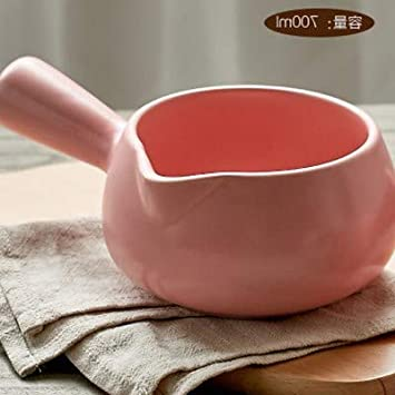 Sartenes Caldo de sopa sobre una sartén pequeña Leche ...