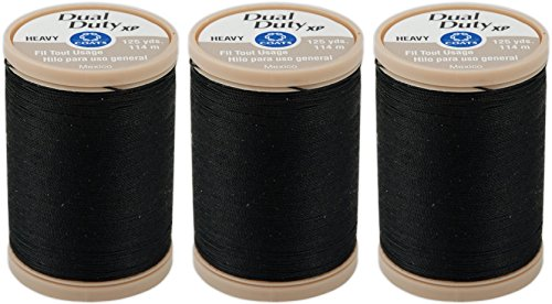Quilting & Coats Machine Clark (COATS & CLARK Dual Duty XP Heavy Thread, 125-Yard, Black (3 Spools, Black))