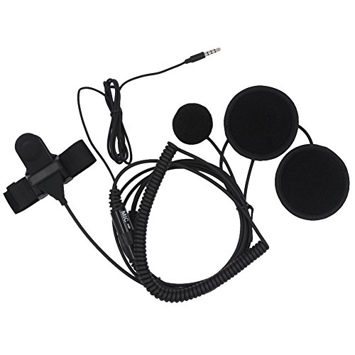 AOER 3.5mm Full Face Earpiece Headset Mic Microphone For Mob