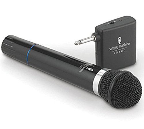 The Singing Machine Microphone - Microphone Wireless Singing Machine SMM-107 Uni-Directional Dynamic - Black (Certified Refurbished)