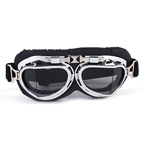 OMG_Shop Ski Snow Motorcycle ATV Off-Road Goggle Eyewear Black Frame Clear - Cn B-sunglasses