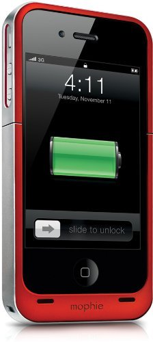 Mophie Juice Pack Air Battery Case for iPhone 4/4S - Red (Certified Refurbished)