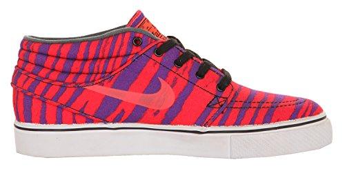 Nike SB Herren Sneakers Stefan Janoski Mid Prm Neon Orange-Lila 642061-651