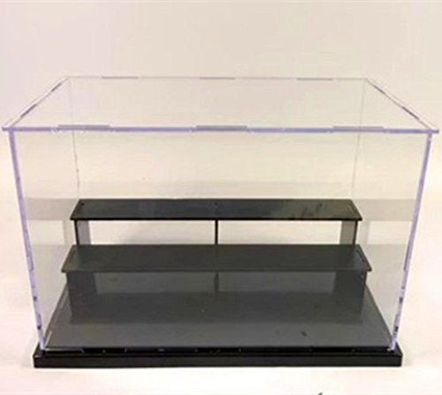 KENGEL 10x6x7 Inch Assembly Transparent Clear Acrylic Toys Three layers Display Dustproof Protection Showcase Case Box