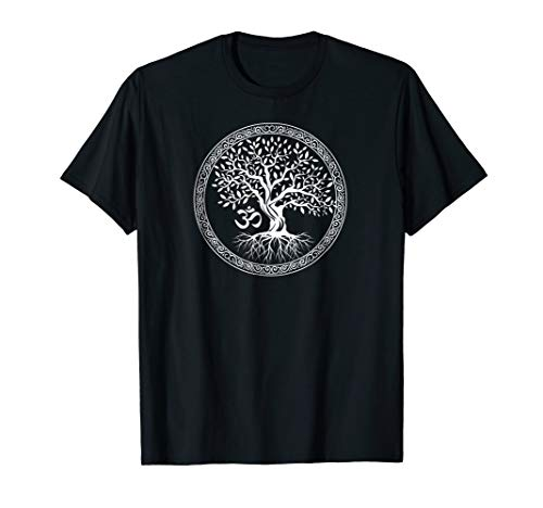 Tree of Life with Om Symbol Yoga T-Shirt ()