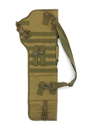 (Silfrae Tactical Shotgun Rifle Scabbard Bag Shoulder Bag (Sand))