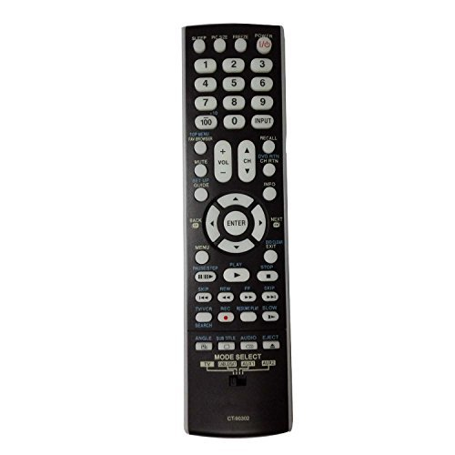 CT-90302 CT90302 Universal Remote Control for TOSHIBA TV 40RV525U 32AV502U 37AV502R 46RV525U 52RV53U 37HL67 55G300U