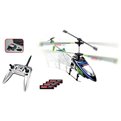 Carrera Vecto 2.4GHz 3-channel Helicopter, Green: Toys & Games