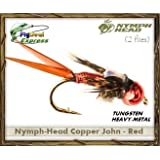 NYMPH-HEAD COPPER JOHN RED - Nymph (2-pack)