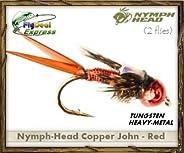 Nymph-Head Copper John RED - Nymph (2-Pack)
