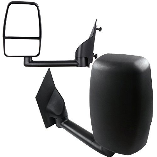 SCITOO Door Mirrors, fit Chevrolet GMC Exterior Accessories Mirrors fit 2003-2011 Chevrolet GMC Express Savana Van 1500/2500/3500/4500 with Manual Controlling (Pair)