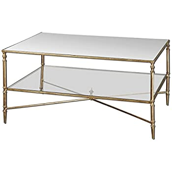 Uttermost 24276 Henzler Mirrored Glass Coffee Table