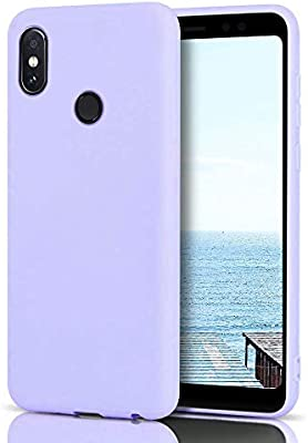 MoEvn Funda Xiaomi Redmi Note 5 Silicona, Púrpura Redmi Note 5 Carcasa Mate Case Cover TPU Suave Slim Anti Skid Anti Rasguño Candy Color Gel Funda ...