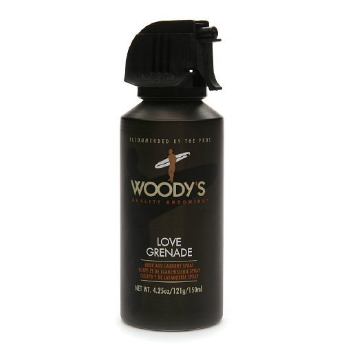Woody's Love Grenade Body & Laundry Spray for MEN 4.25 oz (121 g)