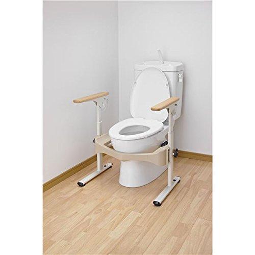 アロン化成 トイレ用手すり 洋式トイレフレームSはねあげR-2(1)木製ヒジ掛ケ 533-087 生活用品 インテリア 雑貨 トイレ用品 その他のトイレ用品 14067381 [並行輸入品] B07GTXL6JQ