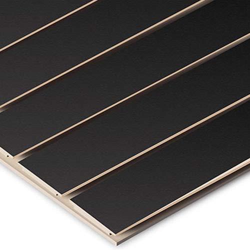Horizontal Slatwall Panels with Black Finish in 4 Feet H x 8 Feet W by Slatwall Panel (Image #1)