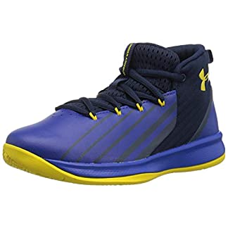 Under Armour Kids' Atlas Gore-TEX Active Jacket Basketball Shoe, Black (002)/Ghost Gray, X-Large