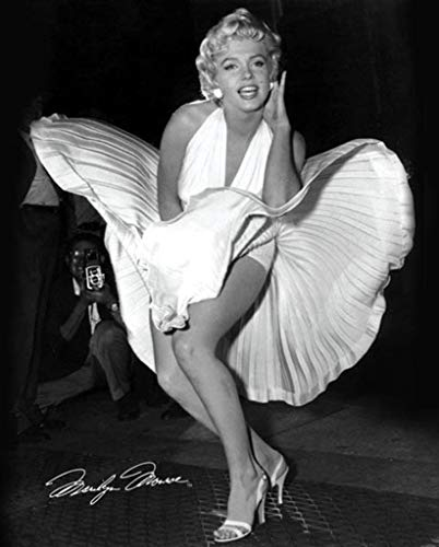 Marilyn Monroe Seven Year Itch Hollywood Glamour Celebrity Actress Icon Photograph Poster 16x20 inch (Best Celebrity Upskirt Photos)