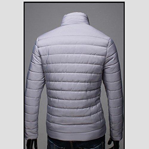 Lunga Manica Zip Autunno Giacca Invernale Con Cappotto Beautytop Grigio Cappuccio Tops Outwear Inverno Caldo Uomo 4ywYaTpTq0