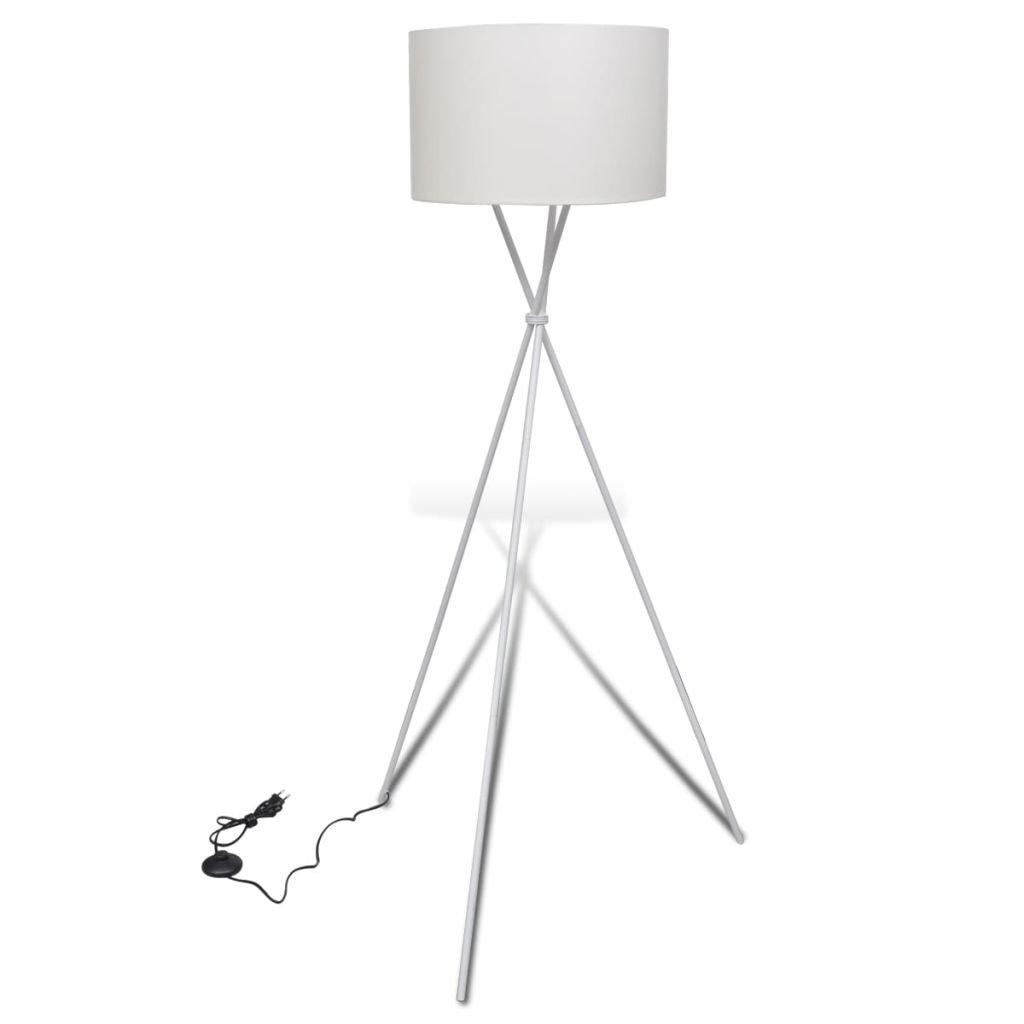 vidaXL Lampada da Terra Moderna Bianca Illuminazione Luce Alta da Pavimento 14288