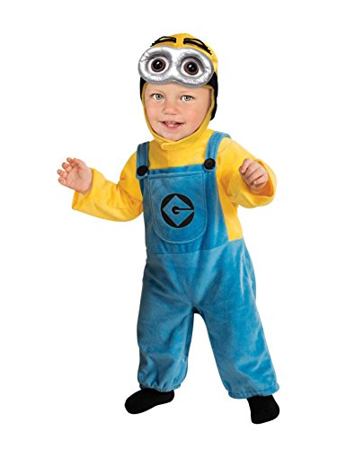 Despicable Me Minion Baby Halloween Costumes (Rubie's Costume Despicable Me 2 Minion Romper, Blue/Yellow, Toddler)
