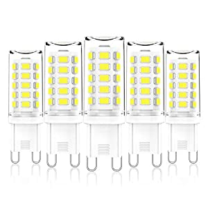 G9 LED Bulbs Dimmable, Cool White 6000K, 3W G9 LED Light Bulb, 28W, 33W, 40W Halogens Equivalent, AC 220-240V, 345LM…