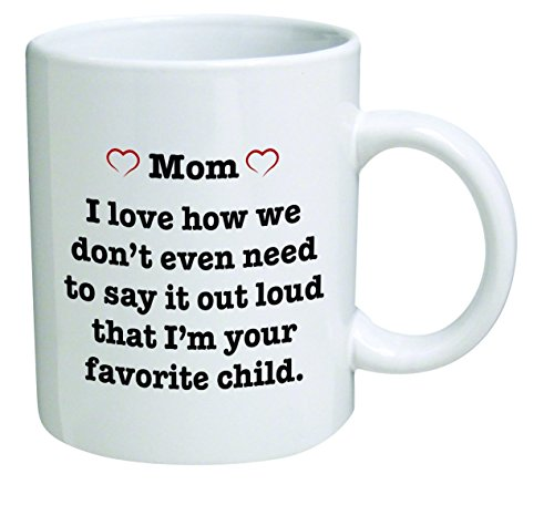 Pink heart MOM best funny gift product image