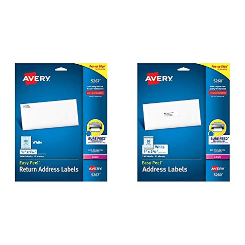 Mittens Address Labels - Avery Address Labels with Sure Feed for Laser Printers, 0.5