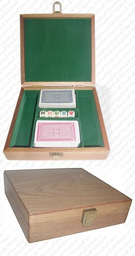 Trademark Oak Poker Chip Case - 100 Piece Capacity -