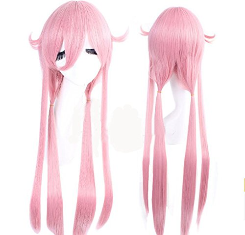 Price comparison product image Sunny-business Anime Long Gasai Yuno Future Diary Girls Pink of Cosplay Wigs