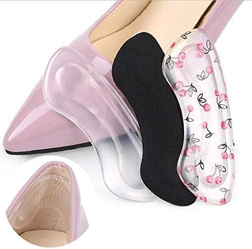Houer Silikongel Frauen Fersenschutz Fußfüße Pflege Schuhpad Innensohle Kissen Massage Hinterer Fußaufkleber, schwarz