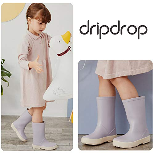 dripdrop Toddler Kids Rain Boots Pure Color Waterproof Shoes Wellies for Girls Boys (Toddler/Little Kids)