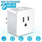 Wsky Wifi Smart Plug - Best Wireless Outlet Plug for Alexa, Google Home - You Can Turn The Light On/Off from Anywhere(A Secured 2.4 GHz Wi-Fi Network Connection Required) - 1 Pack