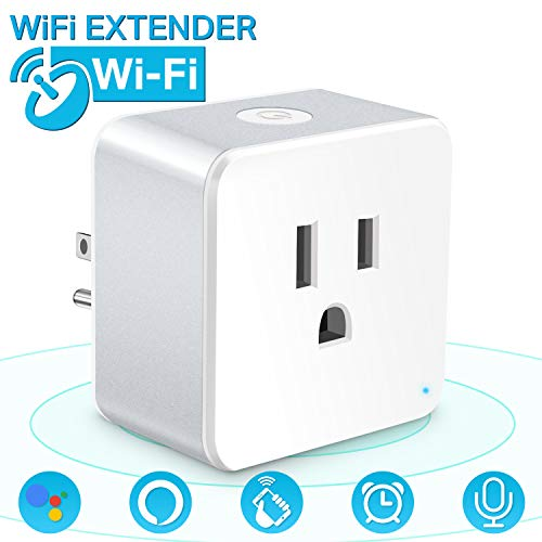 Wsiiroon Mini WiFi Smart Plug with Timer and Countdown Function Compatible with Amazon Alexa, Google Home, Remote Control Home Appliances (1pc)