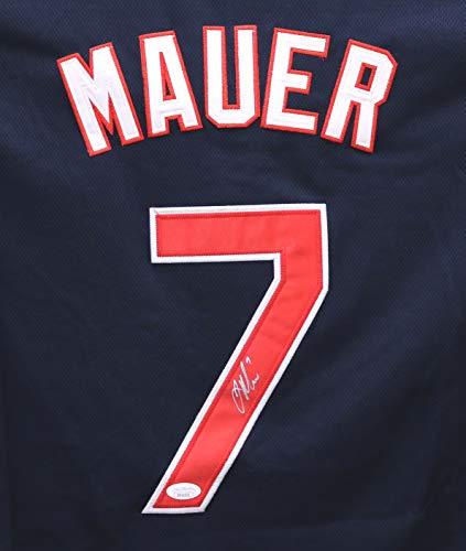 Joe Mauer Minnesota Twins Signed Autographed Blue #7 Jersey JSA - Jerseys Twins Autographed Minnesota