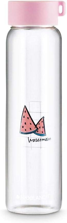 Borosilicate Fructin Glass Bottle, Water Beverage Juice Milk Fridge Bottle, 1000 ml
