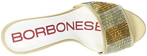 Borbonese 6dg916, Sandalo Col Tacco Donna Dorato