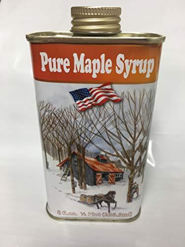Horizon Hill, 100% Pure Organic New York Maple Syrup | Grade A | Amber Rich | All-Natural Non-GMO | 1/2 Pint (8 fl.oz.) |