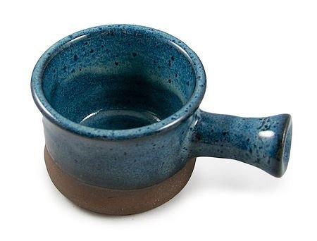 Hand Thrown Apothecary Mug, Dark Blue-Handmade in USA, Perfect Shaving Bowl. …