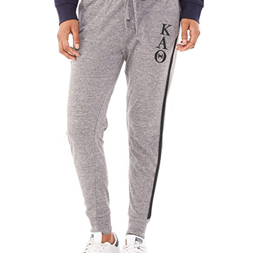 KYS Womens Kappa Alpha Theta Jersey Jogger Pants Small Gray