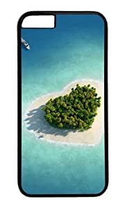 MOKSHOP Adorable Heart shaped at sea Hard Case Protective Shell Cell Phone Cover For Apple Iphone 6 Plus (5.5 Inch) - PC Black